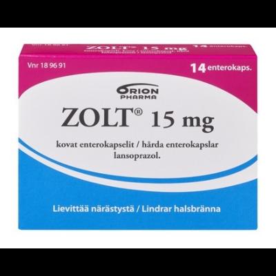 ZOLT 15 mg enterokaps, kova 14 fol