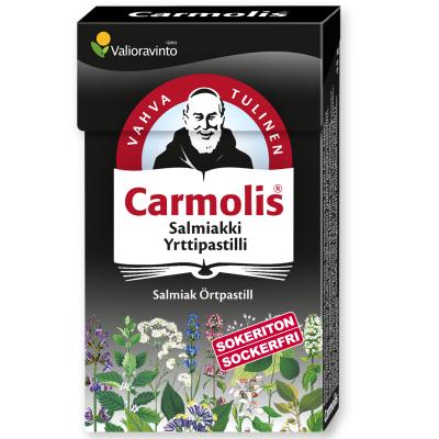 Carmolis Salmiakki Yrttipastilli 45 g