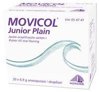 MOVICOL JUNIOR PLAIN jauhe oraaliliuosta varten, annospussi 30 kpl