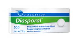 Diasporal magnesium 100 imeskeltävä tabletti 50 kpl