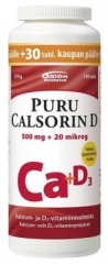 PURU CALSORIN D3 500 MG + 20 MIKROG 130 PURUTABL