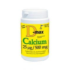 D-MAX CALCIUM 25 MIKROG/500 MG 120 tabl