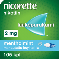 NICORETTE MENTHOLMINT 2 mg lääkepurukumi 105 fol