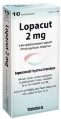LOPACUT 2 mg tabl, kalvopääll 10 fol