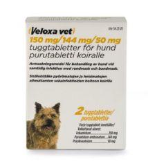 VELOXA VET 150/144/50 mg purutabl 2 fol