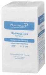 Pharmacare Haavataitos kuituk. 5x5cm       X100 kpl
